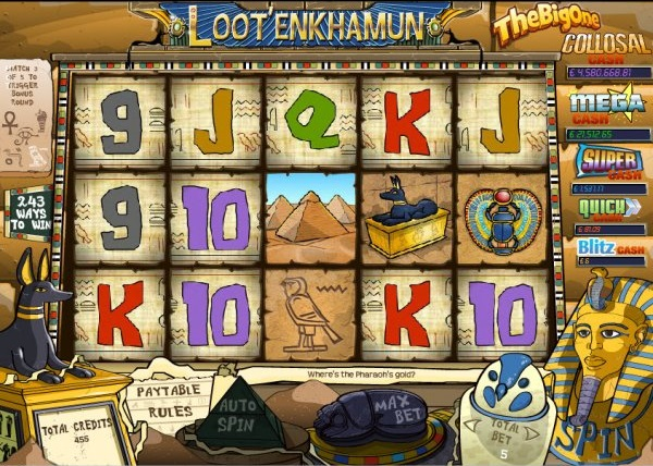 loot'en khamun the big one jackpot